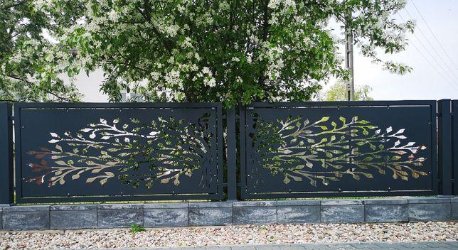 Panel furtka brama ogrodzenie płot dekor taras dekoracyjny laser CNC