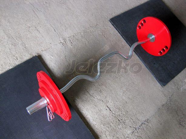 Гриф штанги Z-образный 50 мм (EZ), хром, 1.2 м, с замками