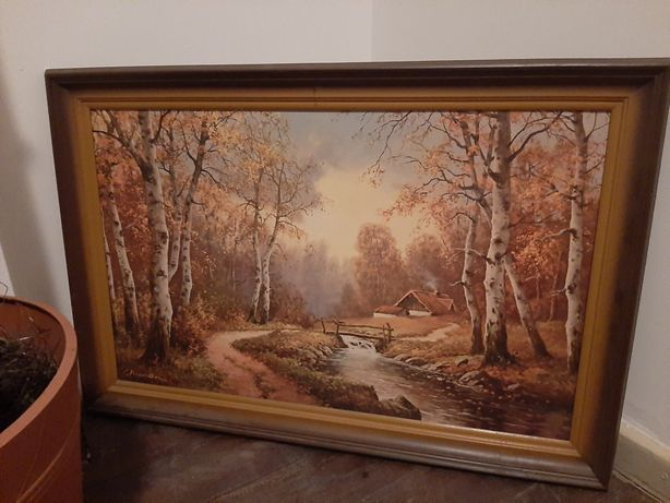 Obraz w drewnianej ramie 50x80