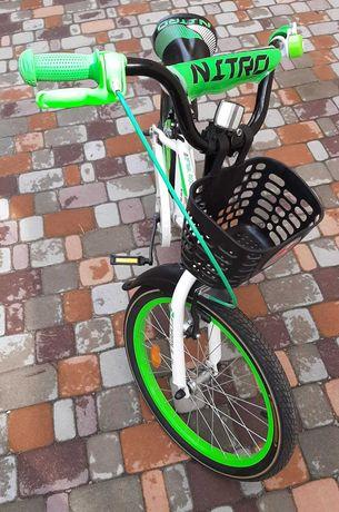 Велосипед подростковый NITRO 14G БЕЛО-ЗЕЛЕНЫЙ (Украина), новый