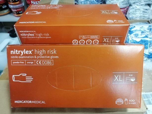 Rękawice rękawiczki nitrylowe HIGH RISK M