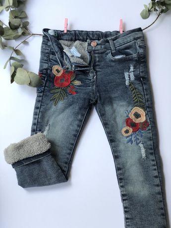 Дитячі джинси утеплені, зимові штани 3-5 роки