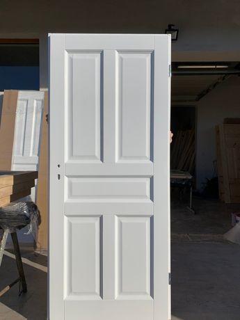 Drzwi wewnętrzne drewniane,OD RĘKI styl białe