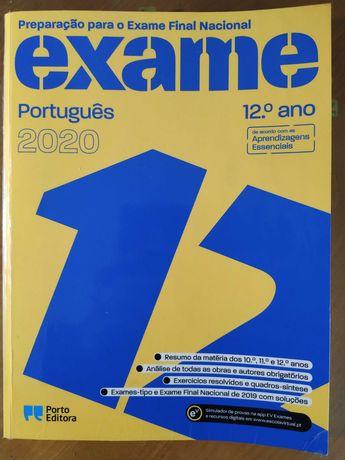 Livro Porto Editora preparação exame de Português 12º