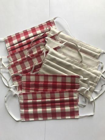 Maseczki wielorazowe trójwarstwowe bawełniane