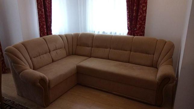 Mega wygodna Sofa rozkładana z szezlongiem oraz schowkiem plus 2 fotel