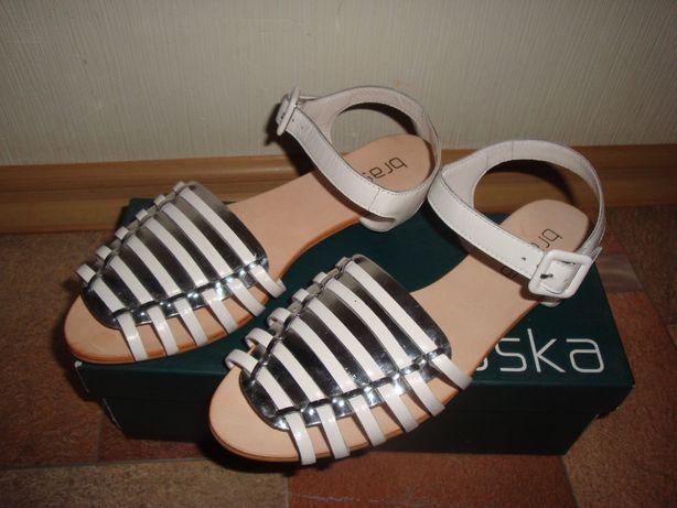 Женские кожаные босоножки сандали Braska кожа р.39-26