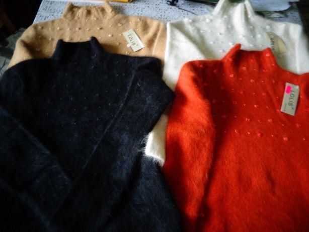 Sweter damski z angory (okazja)