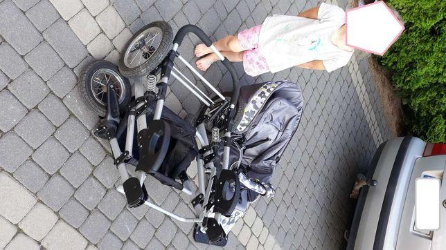 Wózek 3w1, gondola, spacerówka, nosidełko do samochodu
