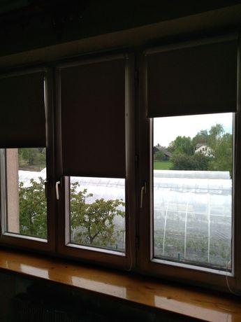 Sprzedam rolety okienne, dwa kolory biały i zielony szerokość 49 cm
