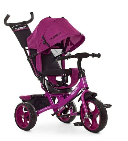 Детский трёхколёсный велосипед TURBOTRIKE, цвет Фуксия, ручка, ровер