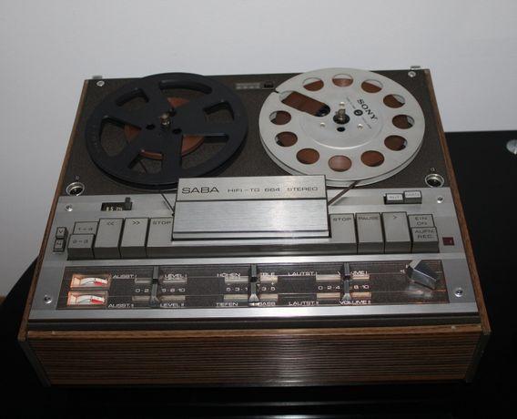 SABA HIFI-TG 664 Magnetofon szpulowy audiofilski vintage Wysyłka