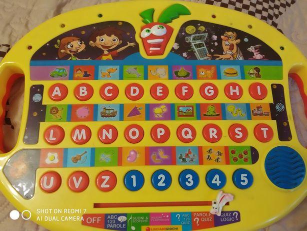 Детский ноутбук для изучения итальянского алфавита игрушки