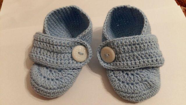 Пинетки туфельки вязаные 12 см