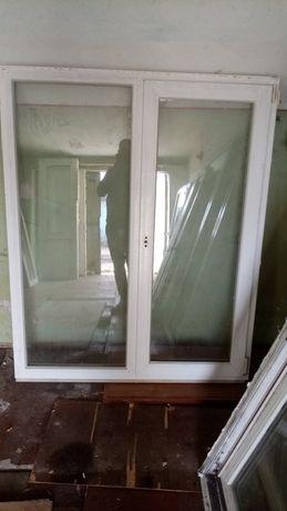 2 окна металлопластиковых бу 1.45 м*1.45м, 1.45*2.02м, 1 4*1.3.