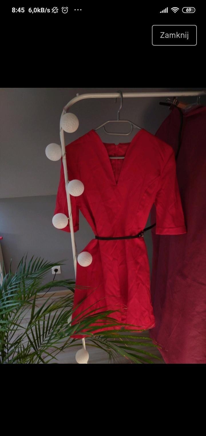 Sprzedam sukienkę czerwona rozmiar s
