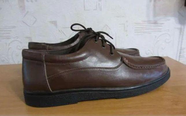 мужские туфли -кожа на шнурках р.9(стелька 28 см )