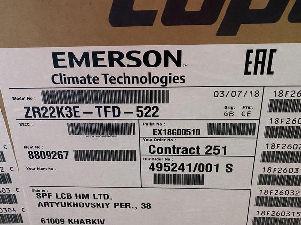 Продам компрессора Copeland scroll zr-22 k3e-tf5-522 новые