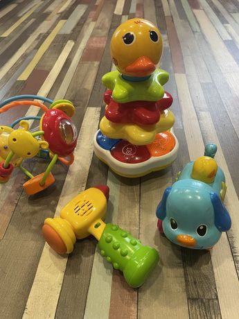 Погремушки, стучалка, 4 звуковые интерактивные игрушки