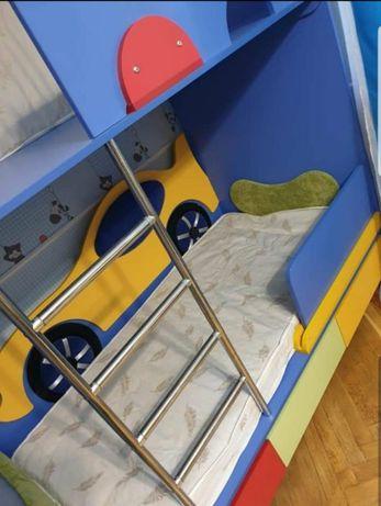 Кровать Кабриолет-Машинка 160 Цвет 3 - Ренессанс з 2-мя матрасами!
