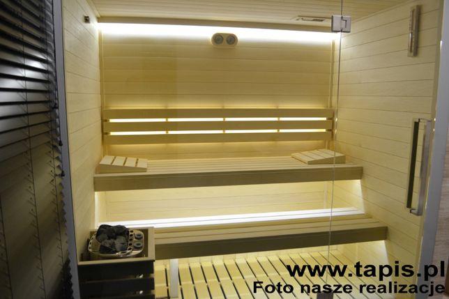 Listwa ławkowa do sauny Osika biała bezsęczna 28x90x3000