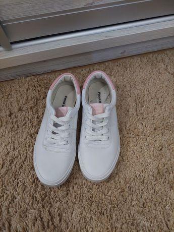 Белые кеды кроссовки 37 38 стелька 24 см