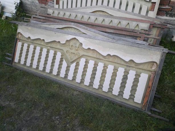 Formy do ogrodzeń betonowych Używanewane 13sztuk