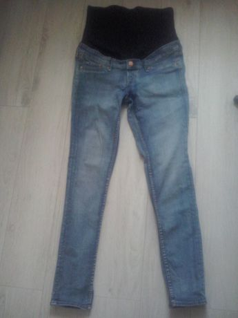 spodnie ciążowe jeansy H & M Mama, r. 42
