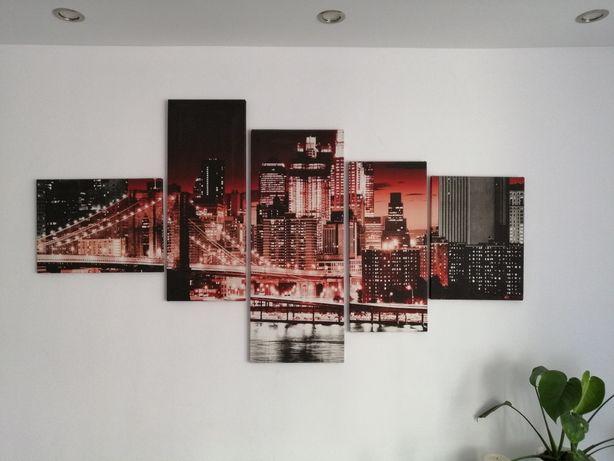 Obraz, nowoczesny tryptyk, miasto.