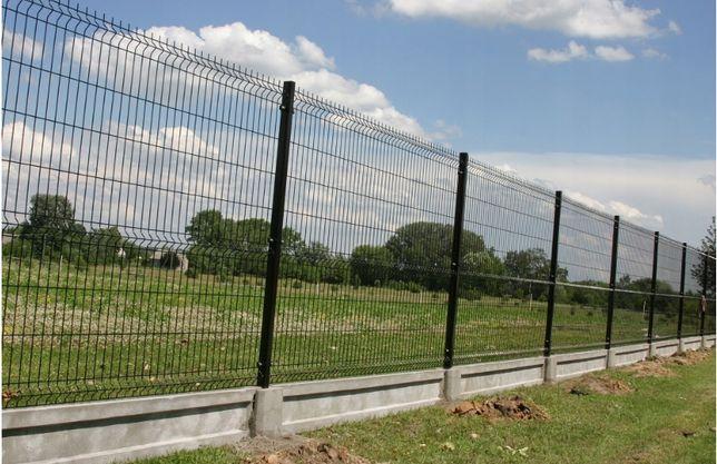 Kompletne ogrodzenie panelowe 4mm 173cm oc+ral podmurówka profile