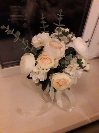 Букет интерьерный, искусственный, ранункулюсы, розы девида остина
