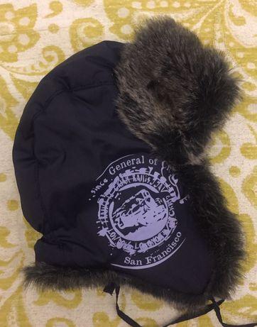 Зимняя шапка на меху с ушами