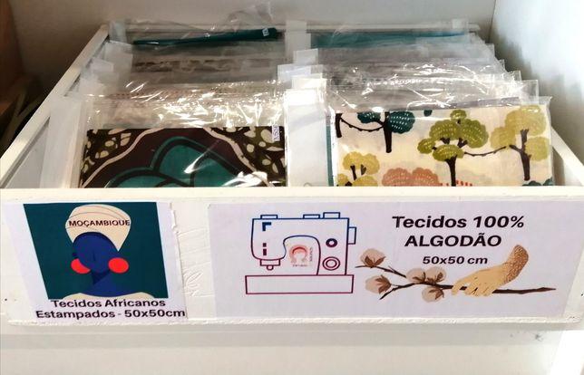 Retalhos de tecidos 100% ALGODÃO e tecidos Africanos Estampados