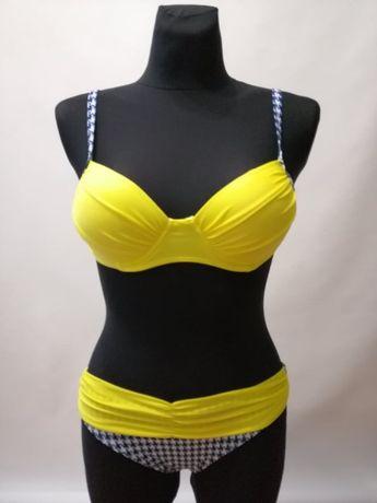 NOWY Strój dwuchęściowy Kostium kąpielowy Bikini EP Żółty S M, L XL