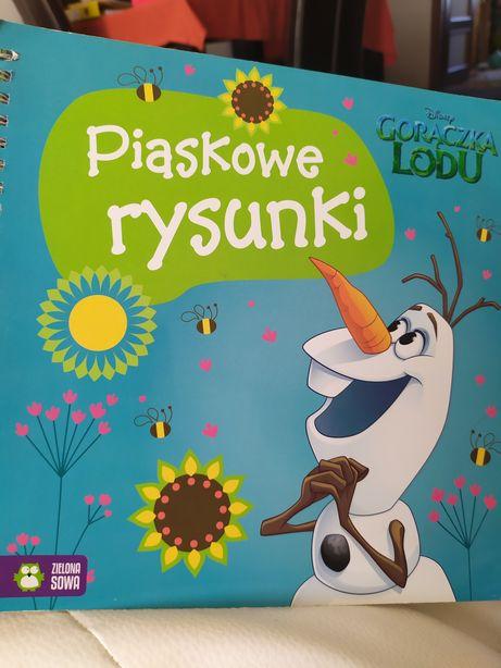 Kraina lodu Piaskowe rysunki zadania dla dzieci