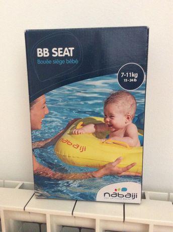 Boia insuflavel com assento bebé 7-11 kg