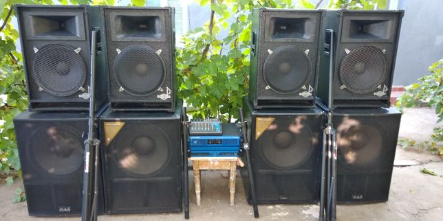Мощный комплект звука (аппаратура) 4,8 кВт. MAG, Eminence, Park Audio.