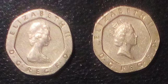 Twenty pence - moedas inglesas
