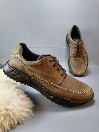 шкіряні мешти мужские ботинки ECCO LUCA, туфли з  шкіри р. 40,42,43
