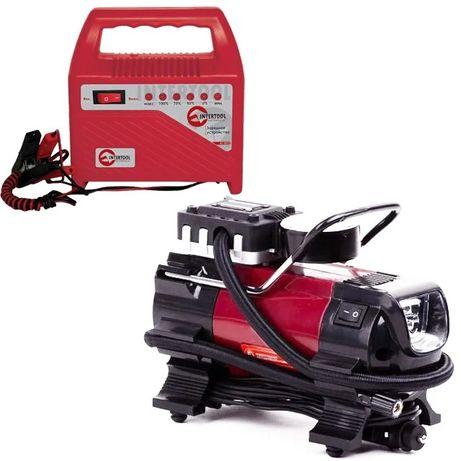 Компрессор автомобильный INTERTOOL AC-0001+Зарядное устройство AT-301