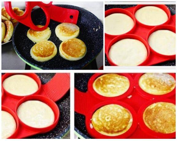 Силіконові форми для смаження яєць та оладок (блинов)