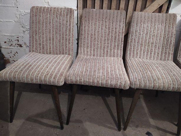 Fotel krzesło patyczak aga PRL 6 szt.