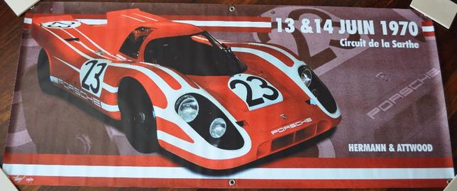 Lona Vinil Porsche 917 LeMans # Poster Porsche