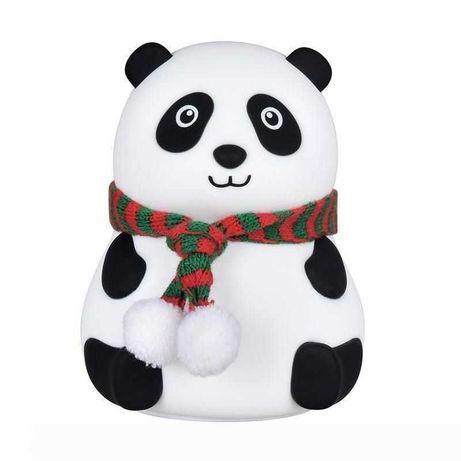 Силиконовый светильник ночник игрушка Панда сказочный детский ночник