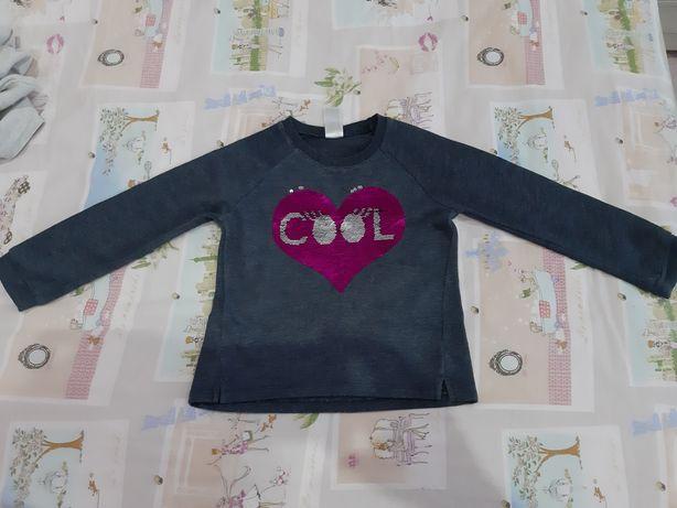 Bluza dziewczęca firmy C&A w rozmiarze 116 cm