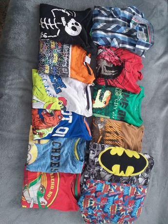 Bluzki, piżamy, koszula chłopięce 128