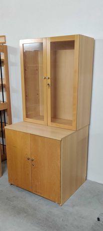 Armário combinado em madeira [2 peças]