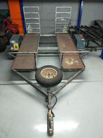 Reboque Atrelado de moto 4 com rampas