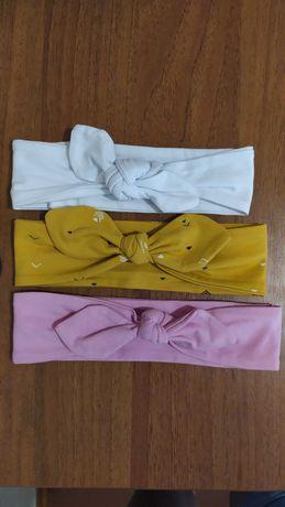 Солошки повязки 3 шт резинки для волос