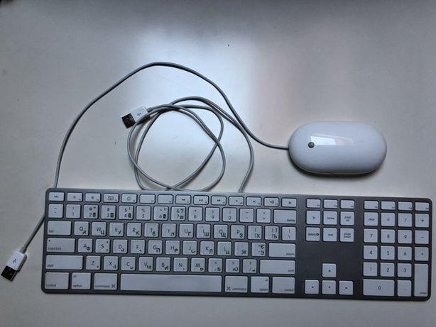 Клавиатура Apple A1243 проводная USB + мышка Apple A1152